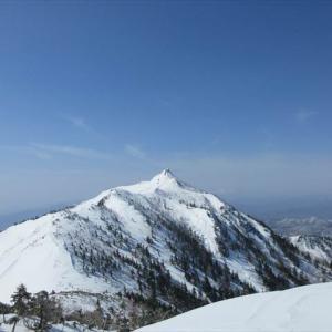 武尊山の冬の登山(2020年3月21日)