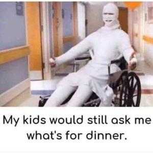 どんな状況でも「ご飯んは何❓」と聞いてくる子供たち