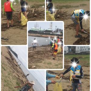 海の清掃活動❣️ volunteer beach cleaning ‼️