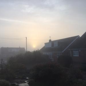 Foggy England: 冬の朝は霧