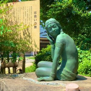 八社の御神徳がある手水石♡「出会いの泉」長宮氷川神社