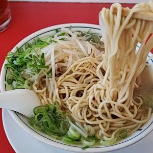天地返し!名古屋市南区『ラーメン福 笠寺店』ラーメン 麺かためネギ多め
