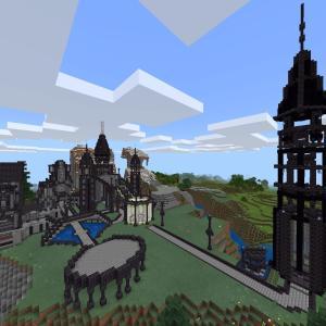 【マインクラフト】簡単な黒い塔の作り方!