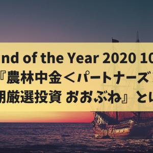 Fund of the Year 2020 10位 『農林中金<パートナーズ>長期厳選投資 おおぶね』とは?