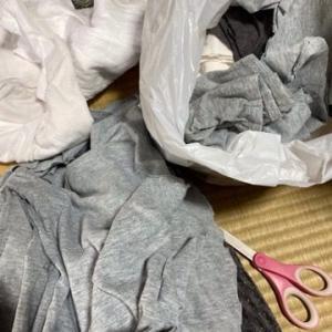 仕事に着ていたTシャツを切りました