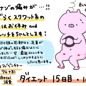 ダイエット 15日目・16日目