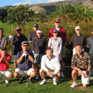 第15回ハワイシニアライフ協会・マウイ支部・ゴルフ会
