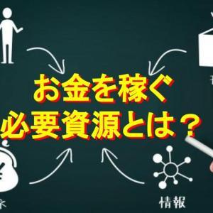 【人・モノ・金・情報・時間】お金を稼ぐ力は必要資源の掛け算で考える!