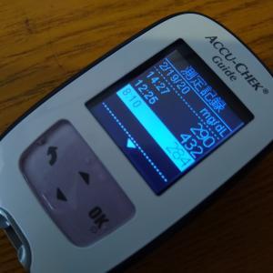 シックデイ2日目につき、こまめに血糖測定してみる。