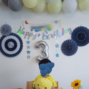 3歳の誕生日会/楽天スーパーセール