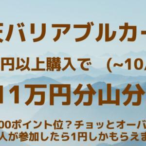 楽天バリアブルカード 1万円以上購入で711万円分 山分け 一人当たり100ポイントも貰えたら御の字?