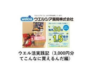 ウエル活実践記(3000円分てこんなに買えるんだ編)