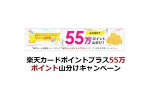 楽天カードポイントプラス55万ポイント山分けキャンペーン