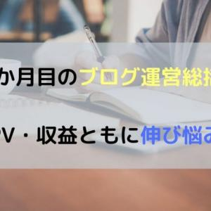 PV・収益ともに伸び悩み【4か月目のブログ運営総括!】