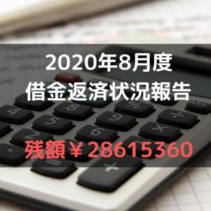 借金返済の状況報告ブログ:2020年8月の状況!