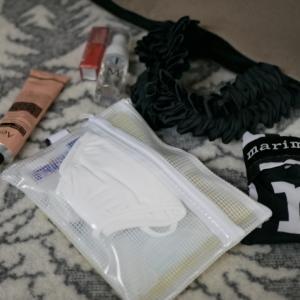 ダイソーで解決!!マスク…どこ置く問題!!コロナ仕様のバッグの中身…公開♡