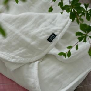 【寝室】365日毎日使うモノ!!育てるガーゼケットが…最高の心地よさ♡