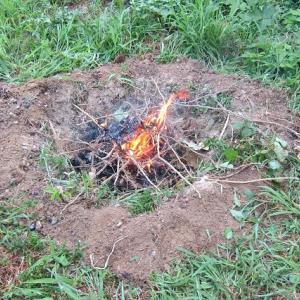 畑ゴミの焼却