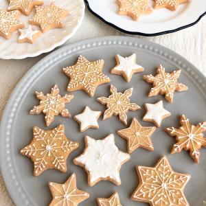 雪の結晶アイシングクッキー