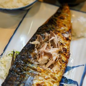 鯖の一枚焼き定食【真】。
