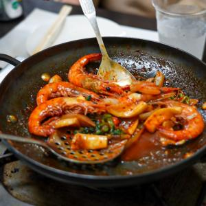 福岡市の某韓国料理でコース料理。