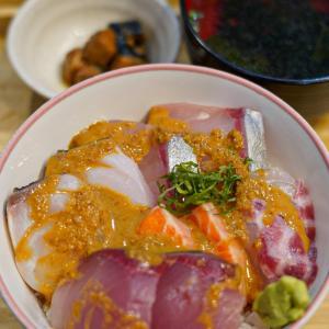 【柳橋連合市場】で海鮮丼。今年もご馳走様でした。