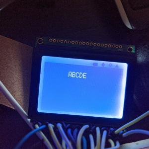 【ラズパイ】【GLCD】ASCII文字列を表示する