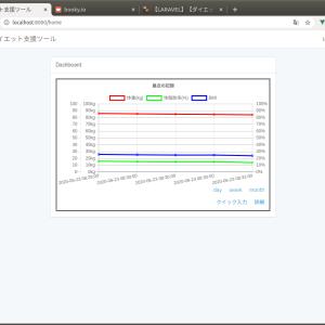 【LARAVEL】【ダイエット支援】グラフのデータ間隔を指定する