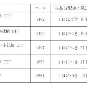 微妙だけど実は重要な【2561】iシェアーズ・コア 日本国債 ETFより初回の分配金です。