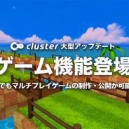 クラスター、バーチャルSNS「cluster」で誰でもマルチプレイゲームを制作して公開できる機能を公開 ユニティ協賛のコンテストも開催