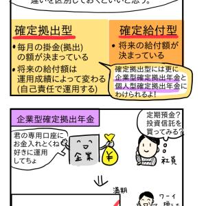 私的年金の確定拠出型年金について。iDeCoもこのタイプ!–FP勉強まんが(25)