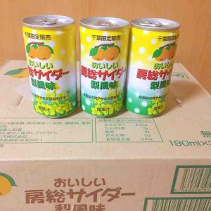 千葉限定販売!初めて飲んだ、梨風味のサイダー(ジャパンフーズHD優待)