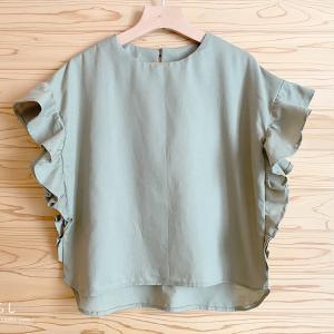 「Lilla Blommaの大人服」からフリルブラウスを縫いました