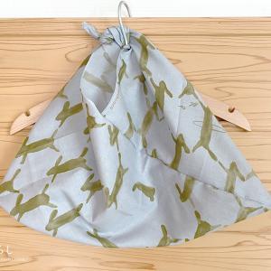 ミナ ペルホネンのてぬぐいで、あずま袋を作りました