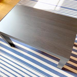IKEA コーヒーテーブル LACK ラックを子どものお絵描き机に