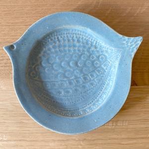 よしざわ窯さんの鳥皿(ブルーグレー)を購入しました