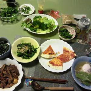 2014年2月6日夕食と今日の仕事着と夕食