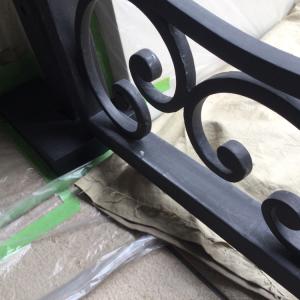 取付け3年目門扉の塗装工事