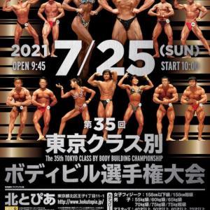 2021JBBF 東京クラス別ボディビル 選手権開催 今週末