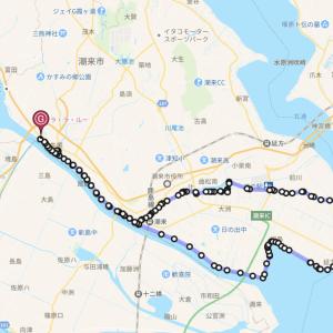 常陸利根川(北利根川)牛堀パーキング〜外浪逆浦〜前川〜あやめ園 サイクリング