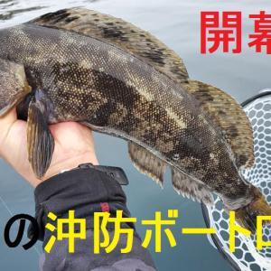 【釣行記事&動画紹介】早春の沖防波堤二馬力ボートロック調査