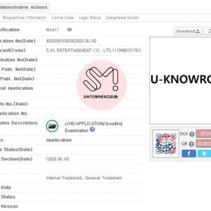 「U-KNOWROUS」という新しい商標を申請