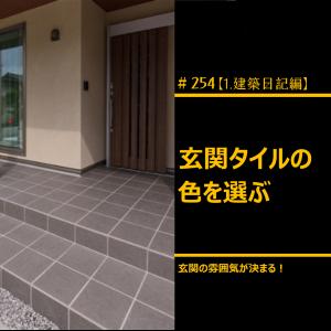 #254 玄関のタイルの色を選ぶ
