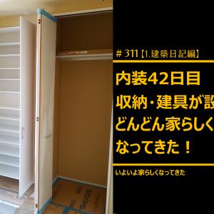 #311 内装着工42日目 収納・建具が設置、どんどん家らしくなってきた!