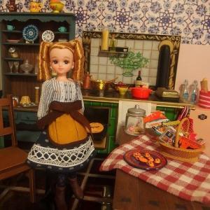 ネムリコネムコモデルリカちゃんとハロウィン準備キッチン