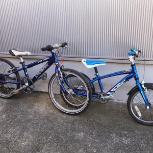 息子の自転車がバージョンアップ!
