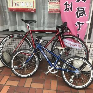 息子の自転車のグリップ交換。