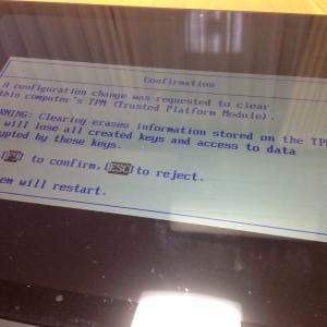 またまた、パソコンの初期化。