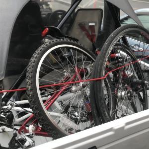ジムニー SJ30 自転車を荷台に積んで、サイクリング! 久しぶりの秋ヶ瀬公園