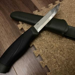 バックパックでソロキャンプ!!    キャンプのお供  モーラナイフを入手した